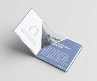 Realistic Square Book PSD Mockup