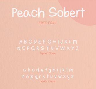 Peach Sorbet Handwritten Font