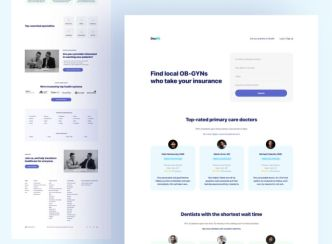 Professional Medical Doctor Landing Page Template Figma