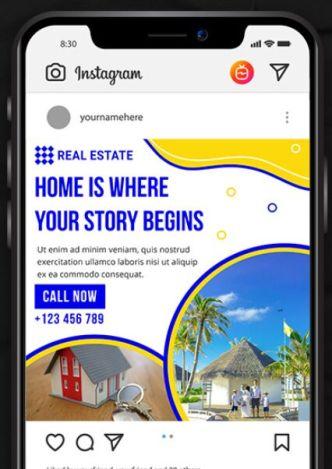 Real Estate Banner Template For Instagram