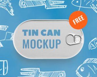 Fish Tin Can PSD Mockup