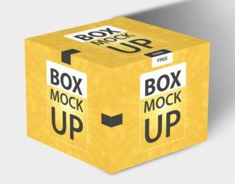 Square Box Packaging Mockup PSD