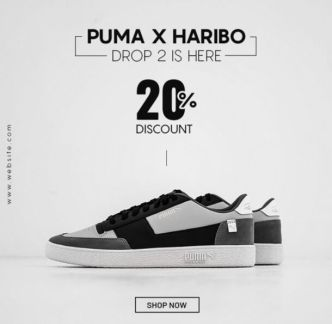 Shoes Ad Banner Template For Social Posts