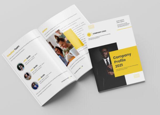 Company Profile Brochure Template Vector