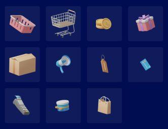 3D Shopping Illustrations (Figma)