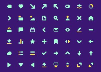 50 Solid UI Icons SVG