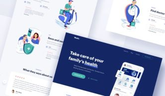 Medical Website Home Page Template Sketch