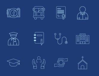 Government Website Navigation Icons SVG
