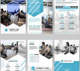 A4 Corporate Brochure Flyer PSD Template