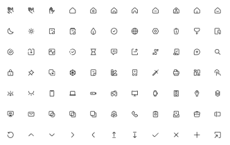 100+ Vector Outline Icons (Figma)