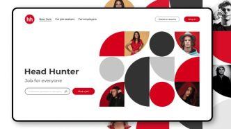 Head Hunter Website Header Banner Template Figma