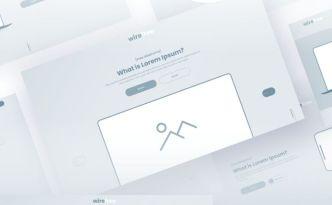 Clean Adobe XD Wireframe UI Kit