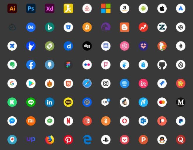 100+ Social Media Icons (3 Styles)