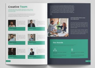 Company Profile Brochure Design Template Vector