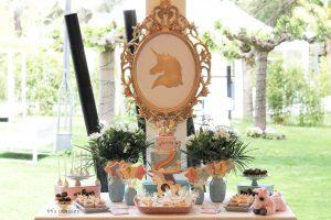Mesa de dulces Unicornio