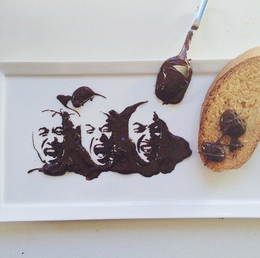 Bernulia usa el chocolate como tinta