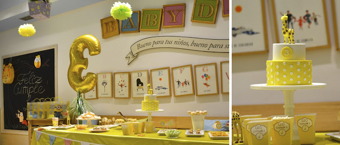 Mesa de dulces Jirafa