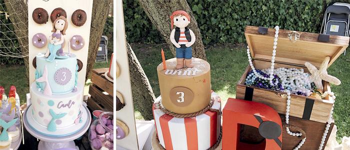 Mesa de dulces Pirata y Sirena