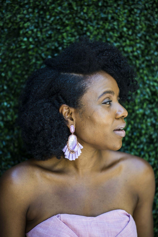 kristen rose gold statement earrings