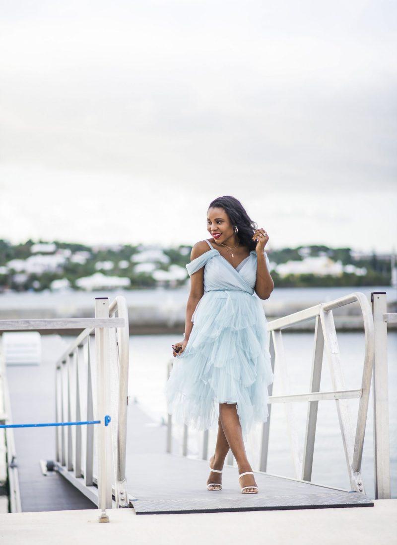 True Decadence Petite Premium Layered Tulle Cami Midi Dress