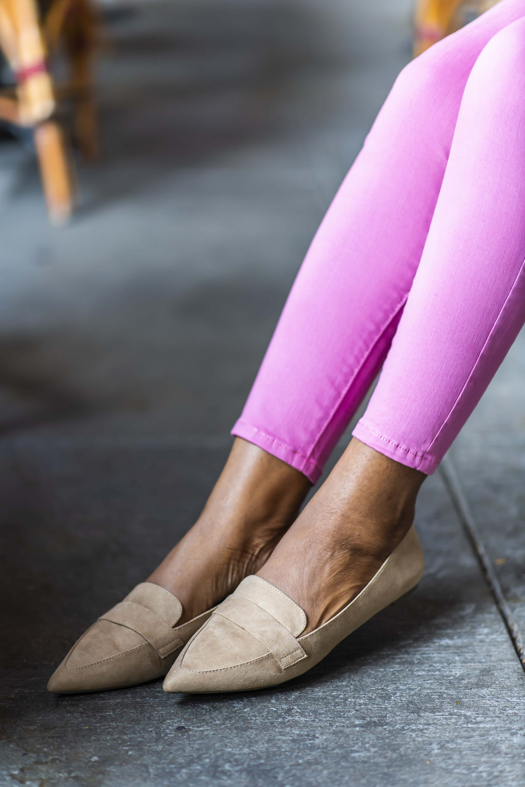 a.n.a Womens Glen Ballet Flats Slip-on Pointed Toe