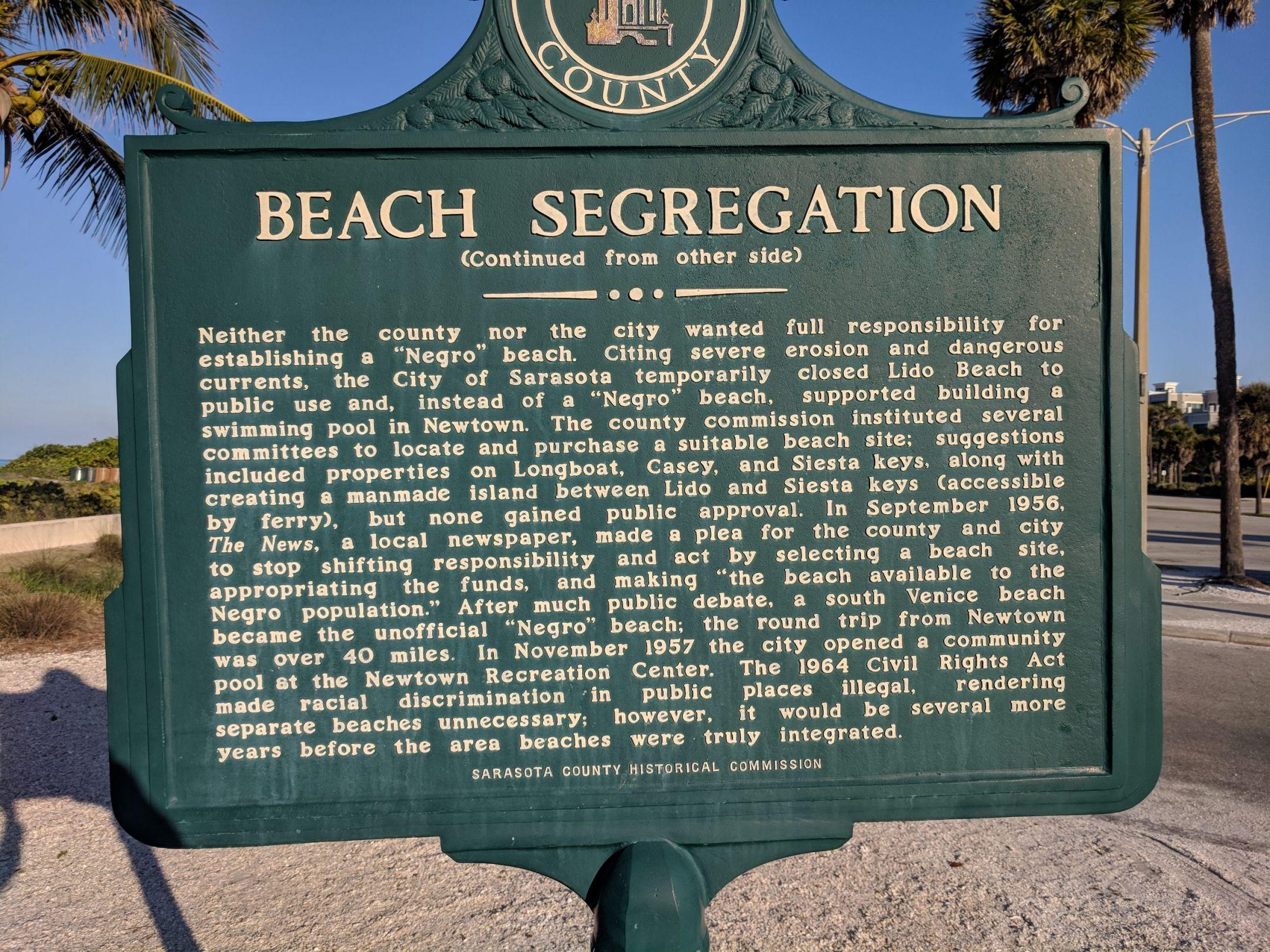 Beach segregation information continued