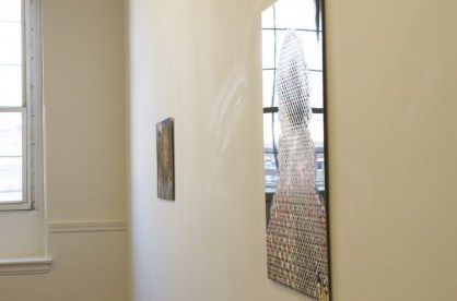 Installation View, showing Untitled Betty, 2012 (right) and Unilateral, 2011 (left)