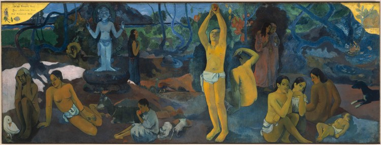 Where Do We Come From? What Are We? Where Are We Going? (D'où venons-nous? Que sommes-nous? Où allons-nous?), 1897–98, by Paul Gauguin (Museum of Fine Arts, Boston: Tompkins Collection—Arthur Gordon Tompkins Fund, 36.270)