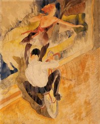 Bicycle Acrobats, 1917 Charles DemuthImages (c) 2012 The Barnes Foundation