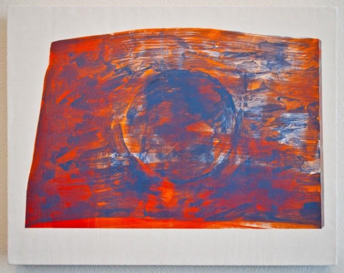 """Corey Antis, Untitled (Tablet) acrylic, flashe on panel, 11""""x14"""", 2012"""