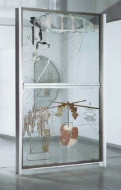 The Bride Stripped Bare by Her Bachelors, Even (The Large Glass), 1915-23. Marcel Duchamp, American (born France), 1887 – 1968. Oil, varnish, lead foil, lead wire, and dust on two glass panels, 109 1/4 x 70 x 3 3/8 inches (277.5 x 177.8 x 8.6 cm). Philadelphia Museum of Art, Bequest of Katherine S. Dreier, 1952 © 2012 Artists Rights Society (ARS), New York/ ADAGP, Paris/Succession Marcel Duchamp