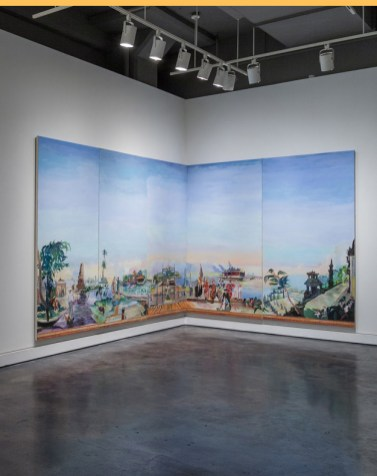 Sông Hu'o'ng, 2013egg tempera on five canvases94 x 240 inches