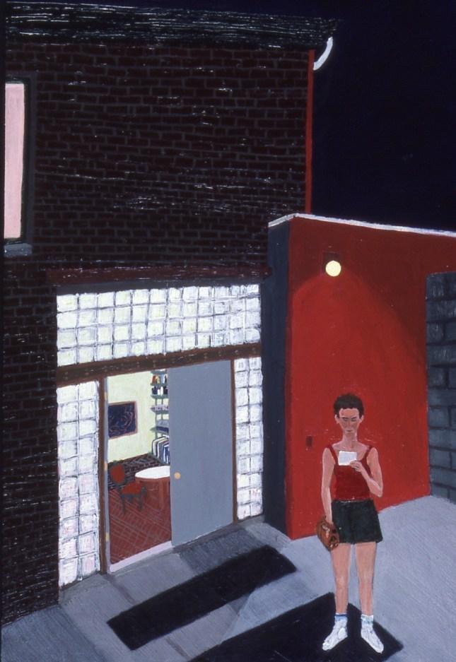 Sarah McEneaney, After Softball 1987 acrylic on wood