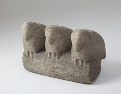 Three Birds, William Edmondson, American 1874-1951 Limestone, 7½ x 10 x 6 inches (19.1 x 25.4 x 15.2 cm) Partial and promised gift of Jill and Sheldon Bonovitz Photography by Will Brown