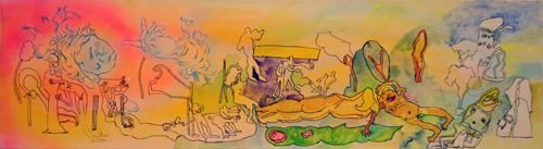 After Matisse Richard Johnston & Bonnie Brenda Scott Acrylic and ink 2013