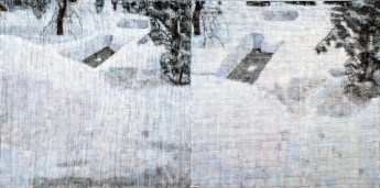 Two Feet of Snow Diptych, 2009-10  Oil on two canvases