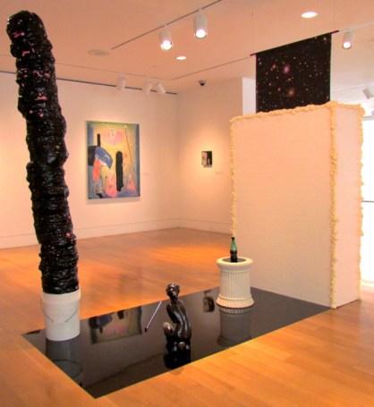 Star Stuff, 2013, Plastic bucket, insulation, vinyl sheeting, rhinestones, digital print on vinyl, plexi glass, ceramic figurine, and pedestal Adam Lovitz photo cred by artist