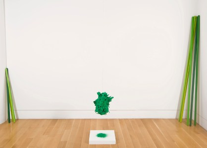 Tree, 2013 Wood chips, glue, painted and nylon flocking Sarah Peoples Photo by Max Grudzinski