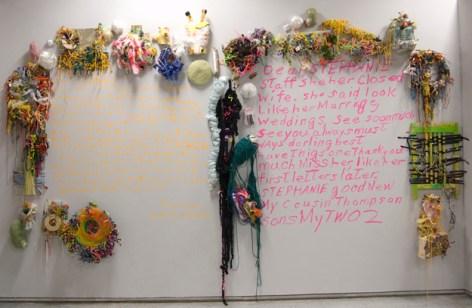 Dear, Stephanie, wall #2, by Kelly Brown, Deb Clark, Cindy Gosselin, and Kurt Webber.