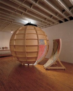 "Targets 2000, (exterior) acrylic/canvas/wood, 108"" diam."