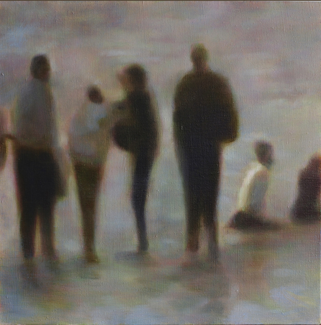 Bathers (Harlequins) oil on linen 2012 18 x 18""