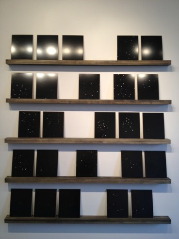"Tamsen Wojtanowski, I/You/We, 2014. Silver Gelatin Prints, Masonite, and Wood, 5'x7', installed. Photograms individually, 8""x10"". Edition of 5."