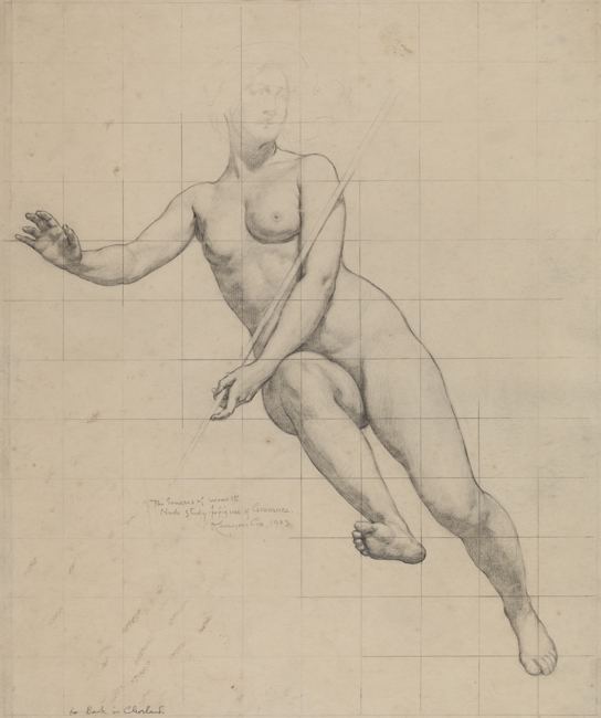 Kenyon Cox, (1856-1919) [Commerce: figure study], 1903 Graphite on cream paper 20 x 16 in. (50.8 x 40.64 cm.) Academy Purchase with funds from the H. J. Heinz, II Charitable and Family Trust, 1982.8.2 3