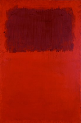 Mark Rothko, (1903-1970) Untitled (Maroon Over Red), 1968 Acrylic on paper mounted on linen 39 1/8 x 26 in. (99.3775 x 66.04 cm.) Bequest of Bernice McIlhenny Wintersteen, 1986.31.5
