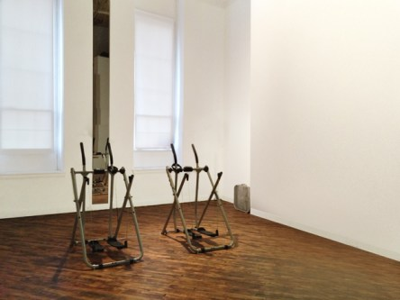 """Installation of """"Walk Together,"""" the Institute for New Feeling at PRACTICE (2014)"""
