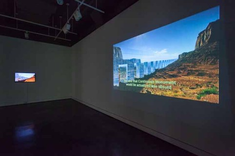 Installation view, Continuous Moment Part 1 Study for Continuous Moment, HD video with sound, 2014. Courtesy of Locks Gallery