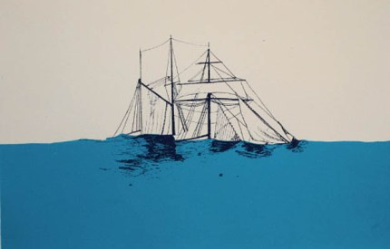 Goodbye, Mildred, 2011, screen print, 11 x 17 inches, Go Ahead and Sink series: edition of 8