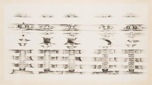 Lee Bontecou, Untitled, 1974–75. Graphite on prepared paper. Courtesy of Michael Rosenfeld Gallery, New York. © Lee Bontecou.
