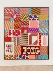 Barry McGee, Untitled, 2014, Paint on panel, 94 1/2 x 81 1/2 inches. Courtesy of Fleisher/Ollman.