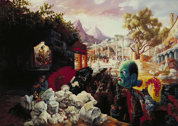 Peter Blume, The Eternal City, 1934-37 The Museum of Modern Art, New York, Mrs. Simon Guggenheim Fund, 1942 Art © The Educational Alliance, Inc./Estate of Peter Blume/Licensed by VAGA, New York